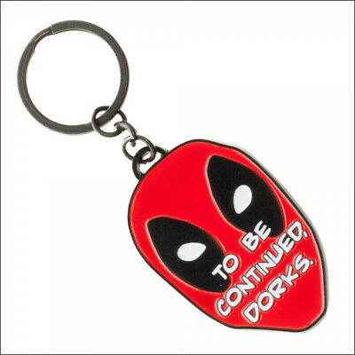 DeadPool Marvel Comics To Be Continued Dorks Metal Face Keychain Bag Zipper Pull