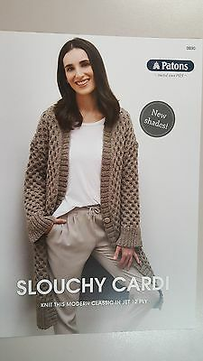 Patons Knitting Pattern #0030 Slouchy Cardi to make in Patons Jet 12 Ply Yarn
