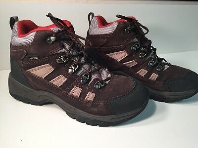 LL BEAN KIDS GORETEX WATERPROOF HIKING BOOTS BROWN SIZE 6 EUC boys Girls Kid's