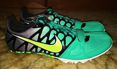 quality design ddff3 eb211 NIKE Zoom Rival S 6 Hyper Jade Green Fade SPRINT Track Spikes Shoes New  Mens 13