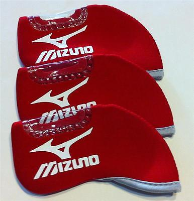 10 x Iron Head Covers - Suit Mizuno - New - Red