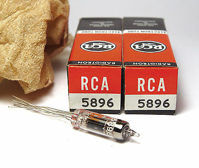 2x RCA 5896 Subminiatur-Röhre Doppel-Diode / Twin Diode Detector Tubes, NOS