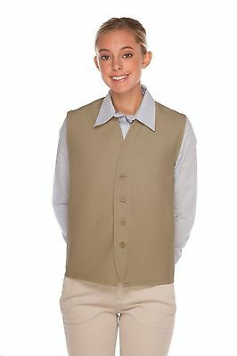 Daystar Aprons 1 Style 740NP-BTN No Pocket 4 Button Vest Uniform~ Made in USA