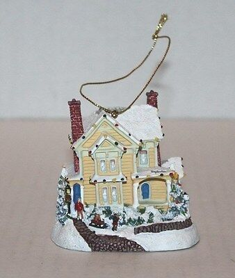 """A HOLIDAY GATHERING"" set one in Thomas Kinkade's Winter Memories Ornament"