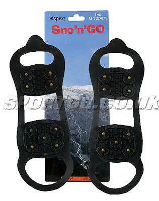 Ice Grippers - Aspex ' Snow N Go ' Shoe Ice Grips - Rrp £15 Gripper Trainers