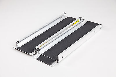 Telescopic Economy Channel Ramps 5ft (152cm long) with black grip surface