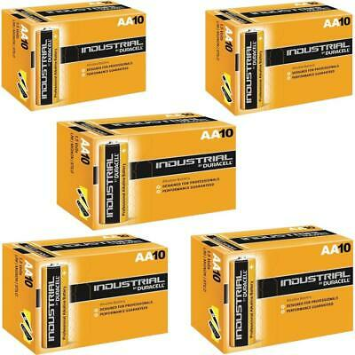 50X Duracell Industrial AA Batteries Alkaline 1.5V LR6 MN1500 Procell Battery UK