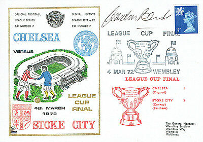 Gordon BANKS Signed Autograph First Day Cover Stoke v Chelsea Cup FDC COA AFTAL