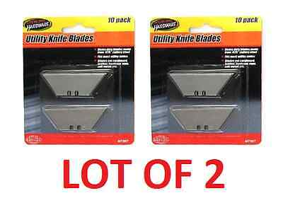 Lot Of 2 Utility Knife Replacement Blades 20 Razor Sharp Steel Easy Refill  New