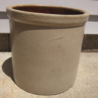 Antique Bottom Marked Monmouth Pottery 1 Gallon Salt Glaze Stoneware Crock