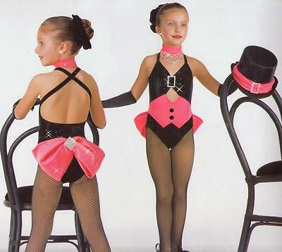 PERFORMER Tuxedo Tap Ice Skating Ballet Dance Costume & Mitts Child X-Small