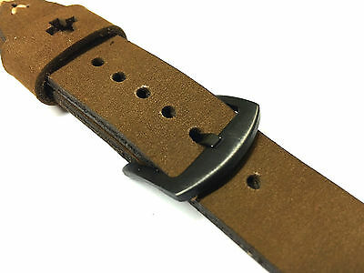 Quality Handmade Brown Suede Leather Watch Strap Band For pple Watch 42mm