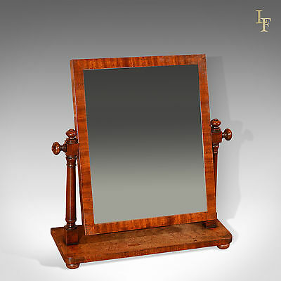Antique Platform Mirror, Regency, Mahogany, Vanity, Swing, Toilet English c.1820