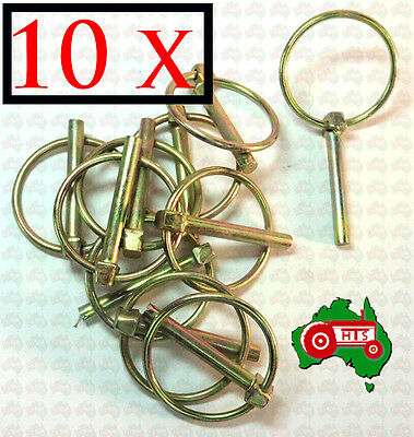 """10 X 6 mm 1/4"""" Lynch Linch Pin Locking Tractor Implement Trailer Caravan Camper"""