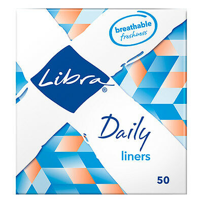 NEW Libra Panty Liners Pack Thin And Breathable Liner 50 Pack