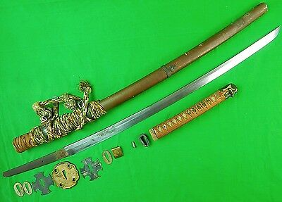 Antique Old Japanese Japan Signed Tachi Sword WW2 WWII Blade w/ Scabbard