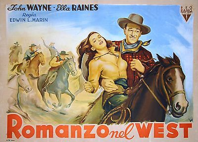Tall In The Saddle - Original Italian Poster - Very Rare