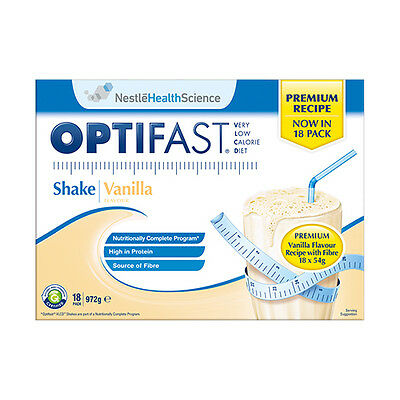 NEW Optifast VLCD Vanilla Flavour - 18 Sachets CLEARANCE