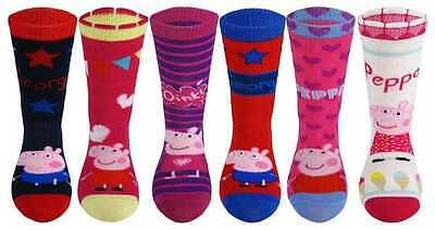 2 Pairs of Official Childrens Peppa Pig Character Value Pack Socks