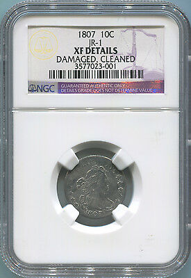 1807 Draped Bust Dime. JR-1. NGC XF Details