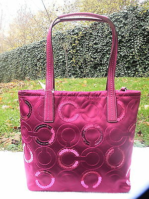 Sac A Main Coach Tote Passion Berry