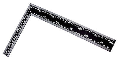 "LARGE 8"" x 12"" STEEL ROOFING SQUARE Framing Carpenter Measure Metric Imperial"