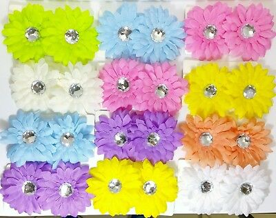 24 Hair Bow Lot Baby Toddler Flower Accessories Headwear Girl Kids Daisy Clips