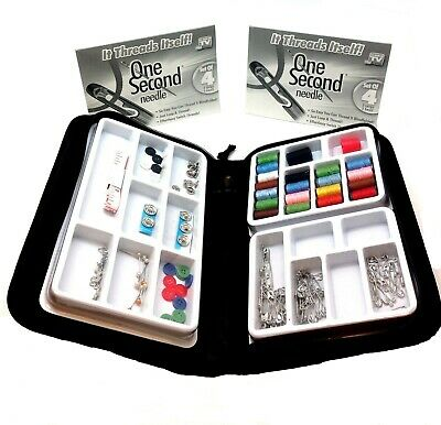 One Second Needle 8 Set Self Threading 100Pc Kit As Seen On TV Sew Button Patch