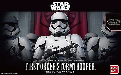 New Star Wars First order Stormtrooper 1/12 scale plastic model Bandai Japan F/S