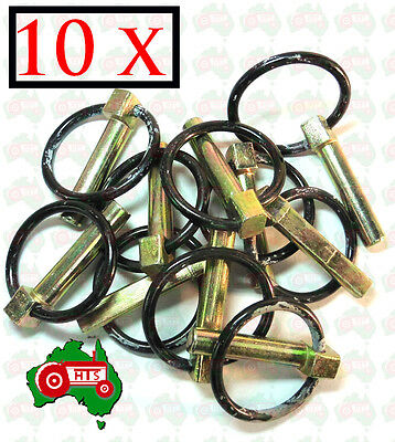 "10 X Heavy Duty 11 mm 7/16"" Lynch Linch Pin Locking Tractor Implement Trailer"