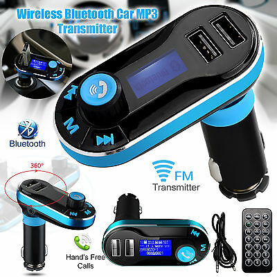 Bluetooth Car Kit MP3 FM Transmitter SD USB Charger Handsfree for iPhone Samsung