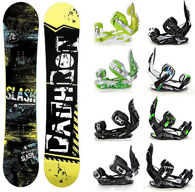 Snowboard Pathron Slash Carbon Rocker + Raven Bindungen M/L oder L - Neu!