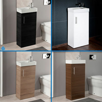 Bathroom cloakroom compact vanity unit basin sink 400mm for Bathroom cabinets 400mm