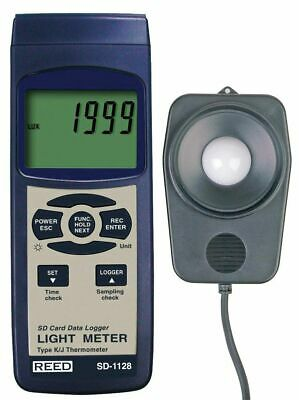 REED SD-1128 Light Meter Data Logger, 2,000, 20,000, 100,000 lux