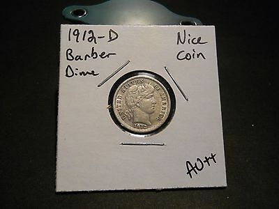 1912- D Barber Dime!!! Nice Coin!!! 90% Silver