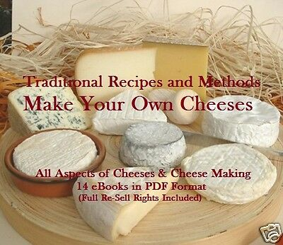 CD - Make Your Own Cheeses - 14 eBooks (Resell Rights)
