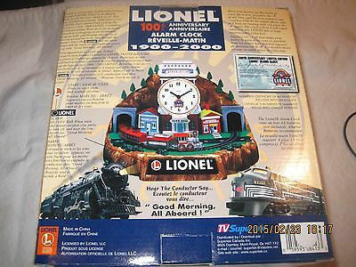 Collectible Lionel 100th Anniversary Animated Alarm Clock c. 2000