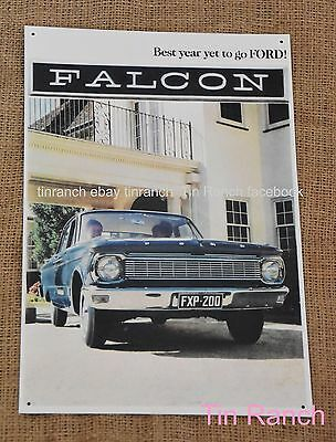 FORD XP FALCON TIN SIGN Classic Australian car 1965 New vintage metal brochure