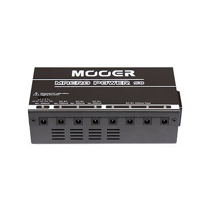 Mooer Audio Macro Power S8 Multi Output Guitar Effect Pedal Power Supply - NEW!