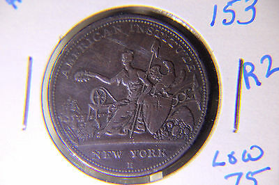 """Hard Times Token - HT 153 Low 75 - Lot # 136 - """"Robinson's Buttons"""""""