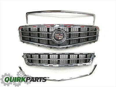 OEM NEW Front Chrome Grille Package 2013-2014 Cadillac ATS 22943165