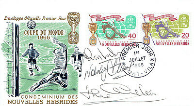 WILSON, STILES, CHARLTON Signed Autograph FDC COA AFTAL ENGLAND World Cup 1966 A