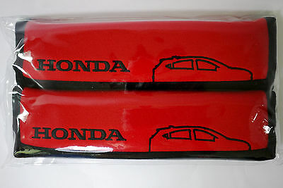 2pcs GENUINE RED SEAT SAFETY BELT COVER SHOULDER SUPPORT PAD HONDA COLLECTION