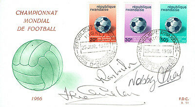 WILSON, STILES, CHARLTON Signed Autograph FDC COA AFTAL ENGLAND World Cup 1966 B