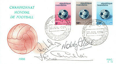 WILSON, STILES, CHARLTON Signed Autograph FDC COA AFTAL ENGLAND World Cup 1966 C