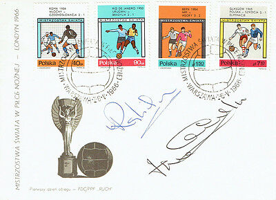 Ray WILSON & Jack CHARLTON Signed Autograph FDC COA AFTAL ENGLAND World Cup 1966