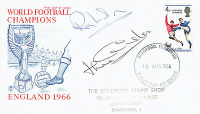 Ray WILSON Jack CHARLTON Signed Autograph FDC COA AFTAL ENGLAND World Cup 1966 F