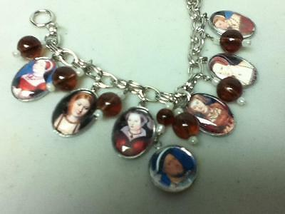 Vintage, Rare, Henry VIII and His Ladies, Charm-Pendant Chain Necklace