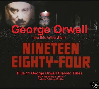 CD - George Orwell - 1984 - 12 eBooks (Re-Sell Rights)