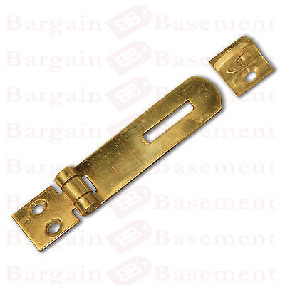 2 x Small Solid Brass Hasp and Staple Catch Latch Cabinet Lock Drawer Catch